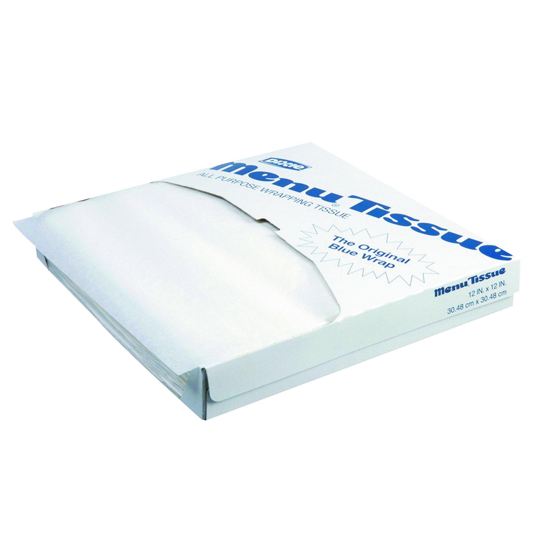 Menu Tissue 862491 No Wax Tissue, 12'' Length x 12'' Width, White (10 Packs of 1000)