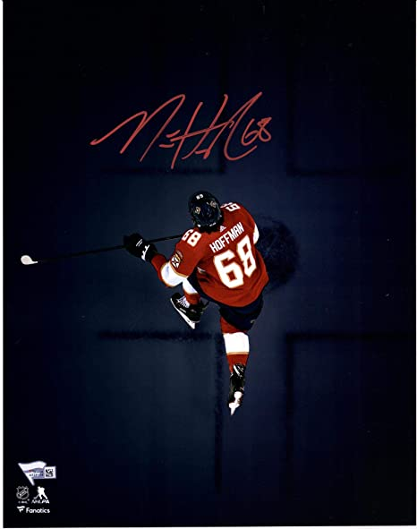 Mike Hoffman Florida Panthers Autographed 11 quot  x 14 quot  Overhead  Spotlight Photograph - Limited Edition b45d78096