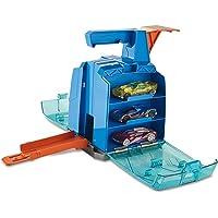 Mattel Hot Wheels-Track Builder Contenedor Lanzador, tramos y Accesorios para Pistas de Coches de Juguetes, Multicolor…