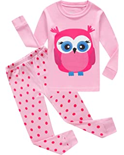 IF Pajamas Sets for Little Girls Cat 100% Cotton Pjs Toddler Kids Clothes