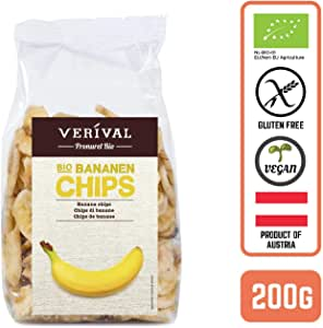 Verival Organic Banana Chips (Gluten-Free), 200 g