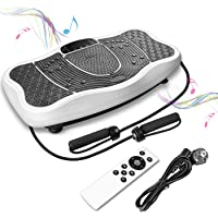FITTIME Plateforme Vibrante et Oscillante Fitness Haute Puissants Massage des Pieds Brûler des Calories Bluetooth Musique avec Télécommande et Bandes Élastiques d'Entraînement Capacité 150KG