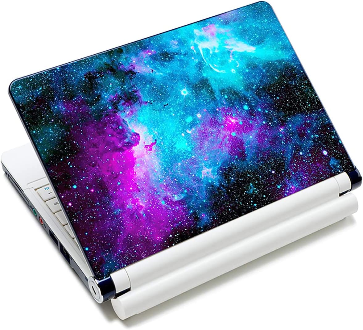 "Laptop Skin Sticker Decal,12"" 13"" 13.3"" 14"" 15"" 15.4"" 15.6 inch Laptop Vinyl Skin Sticker Cover Art Protector Notebook PC (Free 2 Wrist Pad Included), Decorative Waterproof Removable, Nebula Galaxy"