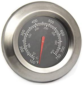 BBQ-Element Grill Thermometer Temperature Gauge Replacement Parts for Master Forge BG179A, MFA350CNP, Temp Gauge Heat Indicator for Outdoor Gourmet FSOGBG3002, Backyard Grill and Other Grill Model.