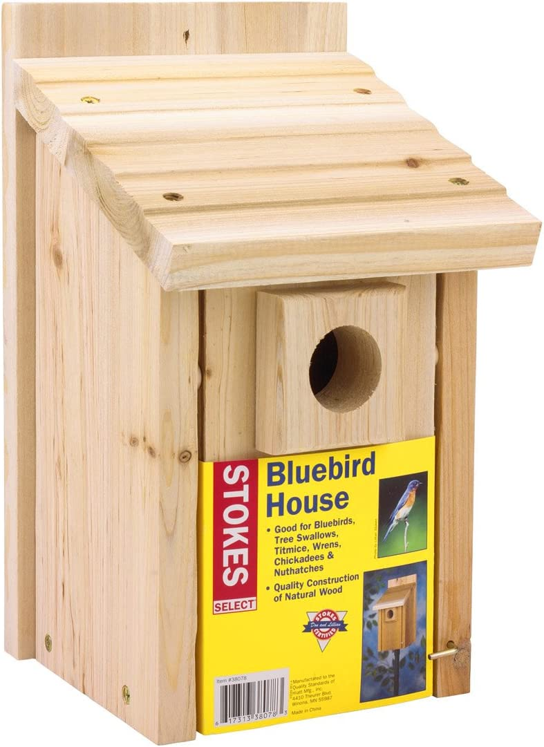 Natural Wood Stokes Select Wren /& Chickadee Nesting Bird House