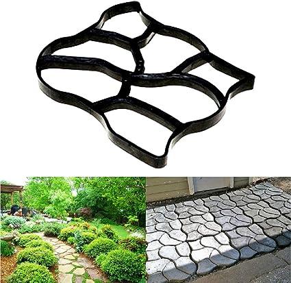 GXFC Moldes para hormigón de jardín Irregulares, ladrillo de pavimentación, Molde para Hacer Caminos, moldes para hormigón de Cemento, moldes de hormigón de Piedra: Amazon.es: Deportes y aire libre