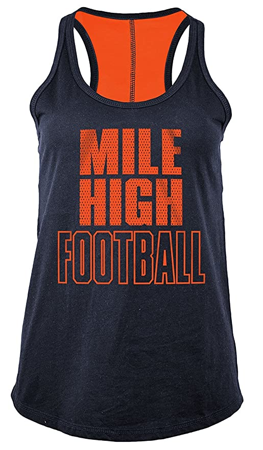 2cd772e4 Denver Broncos Womens Two-Tone Colored Glitter Gel Tank Top XX-Large