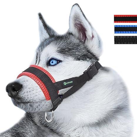 RockPet Bozal de Nylon para Perros Grandes Previene Mordidas, Ladridos y Que Mastiquen, Bozal