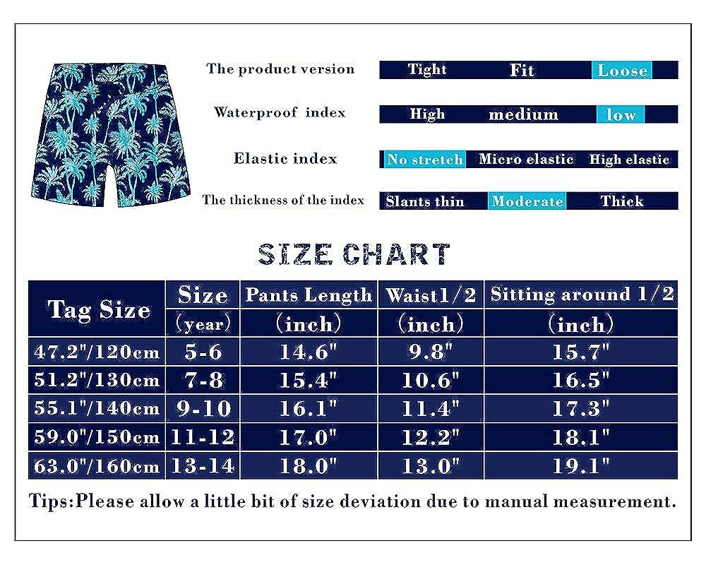 BASADINA Boys Swimming Shorts Trunkd 3D Printed Funny Quick Dry Beachwear Kids Board