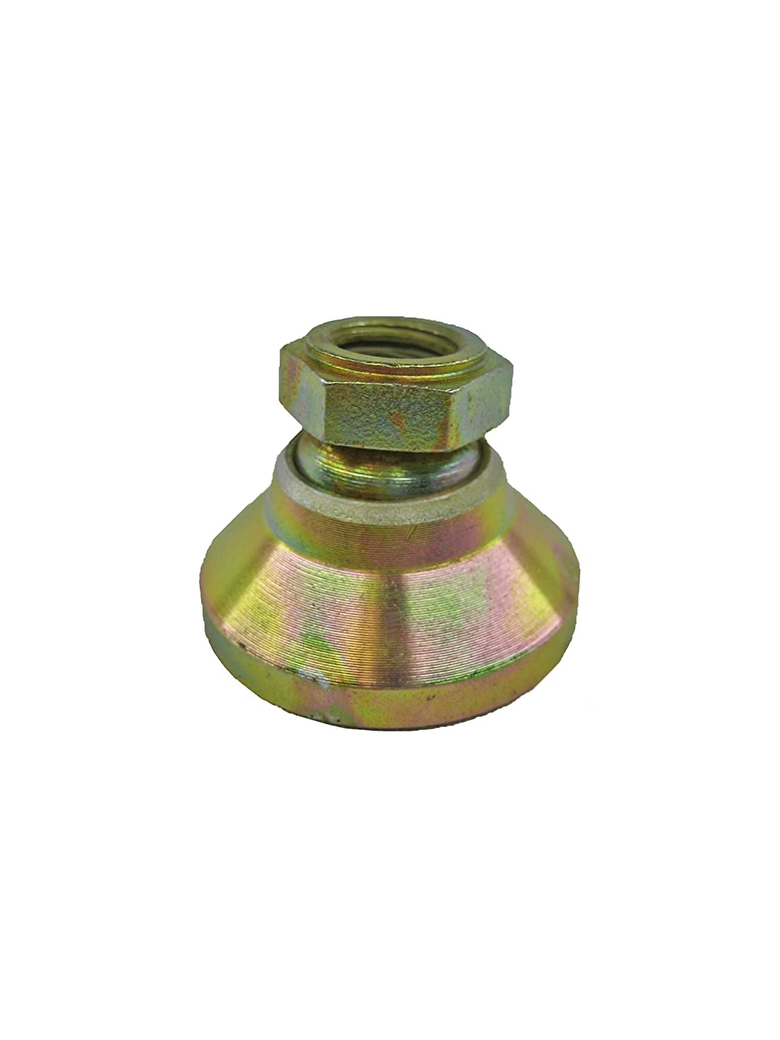 Yellow Zinc Plated Finish 1-1//4-7 Thread Size WincoLEVEL-IT 16TLVT Series LPSO Carbon Steel Tapped Socket Type Leveling Mount J.W Inch Size 43000lbs Maximum Load Capacity