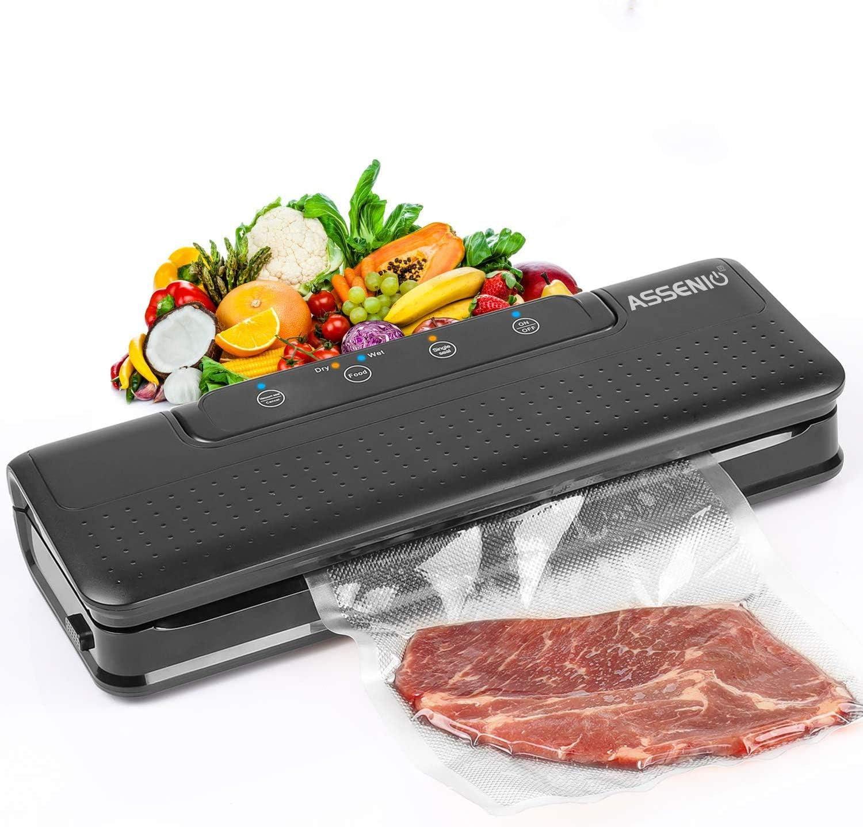 Automatic Food Sealer Air Sealing System for Food Black Vacuum Sealer Machine