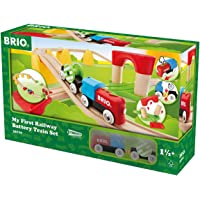Brio My First Railway B/O Train Set, 25 Pieces Train Set, Multi, Standard