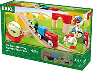 BRIO 33710 My First Railway B/O Train Set, 25 Pieces Train Set, Multi, Standard