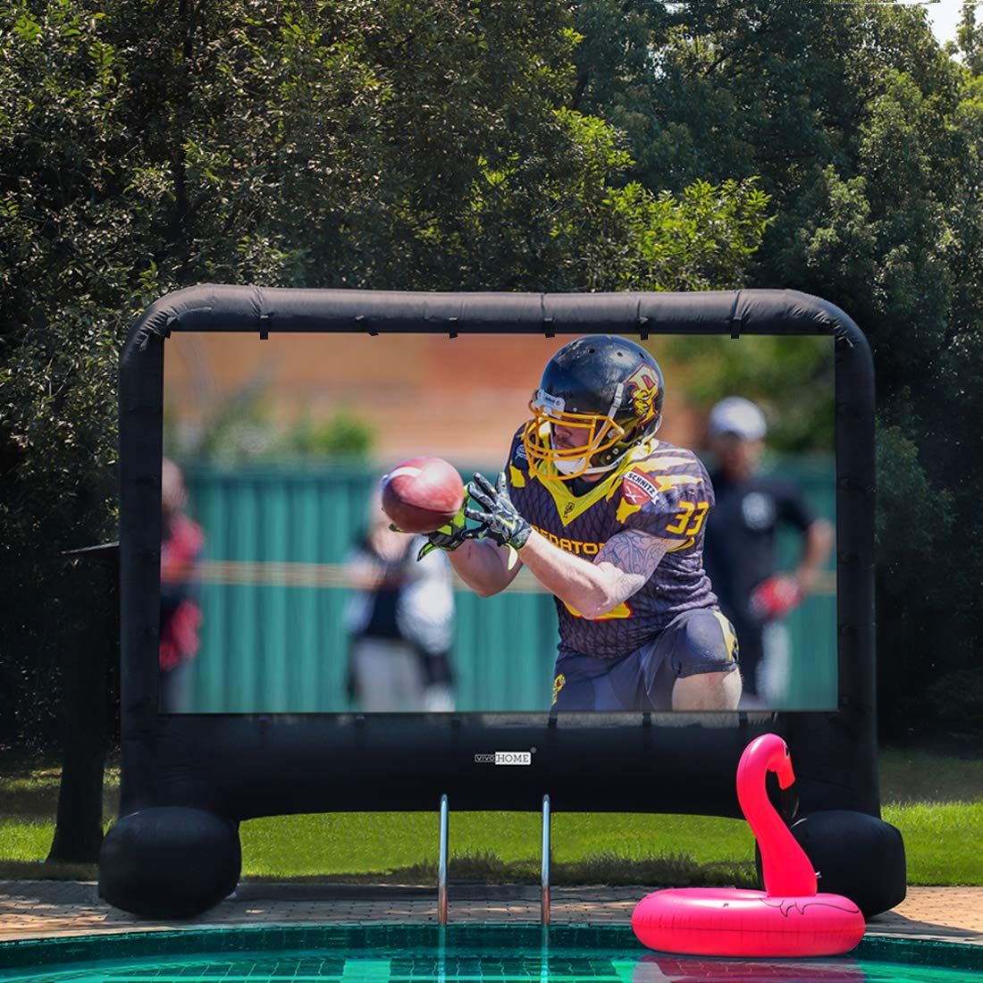 VIVOHOME 14ft Indoor and Outdoor Inflatable Blow up Mega Movie Projection Screen
