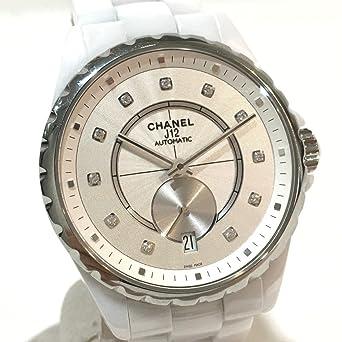 more photos 5c058 30112 Amazon | (シャネル) CHANEL H4345 J12 11Pダイヤ スモール ...