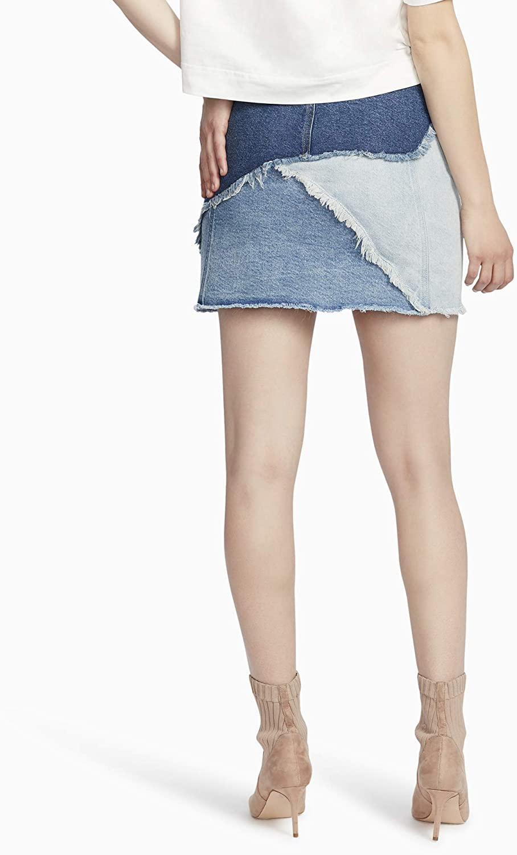 Ella Moss Womens High Waist Denim Mini Skirt