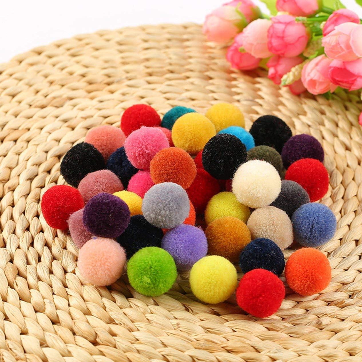 Poli/éster Color Peluche Mini Peque/ño Bricolaje Creativo Hecho a Mano Joyer/ía Sombrero Bufanda Accesorios Colorido Pompones Artesan/ía Costura-Colorido BCVBFGCXVB