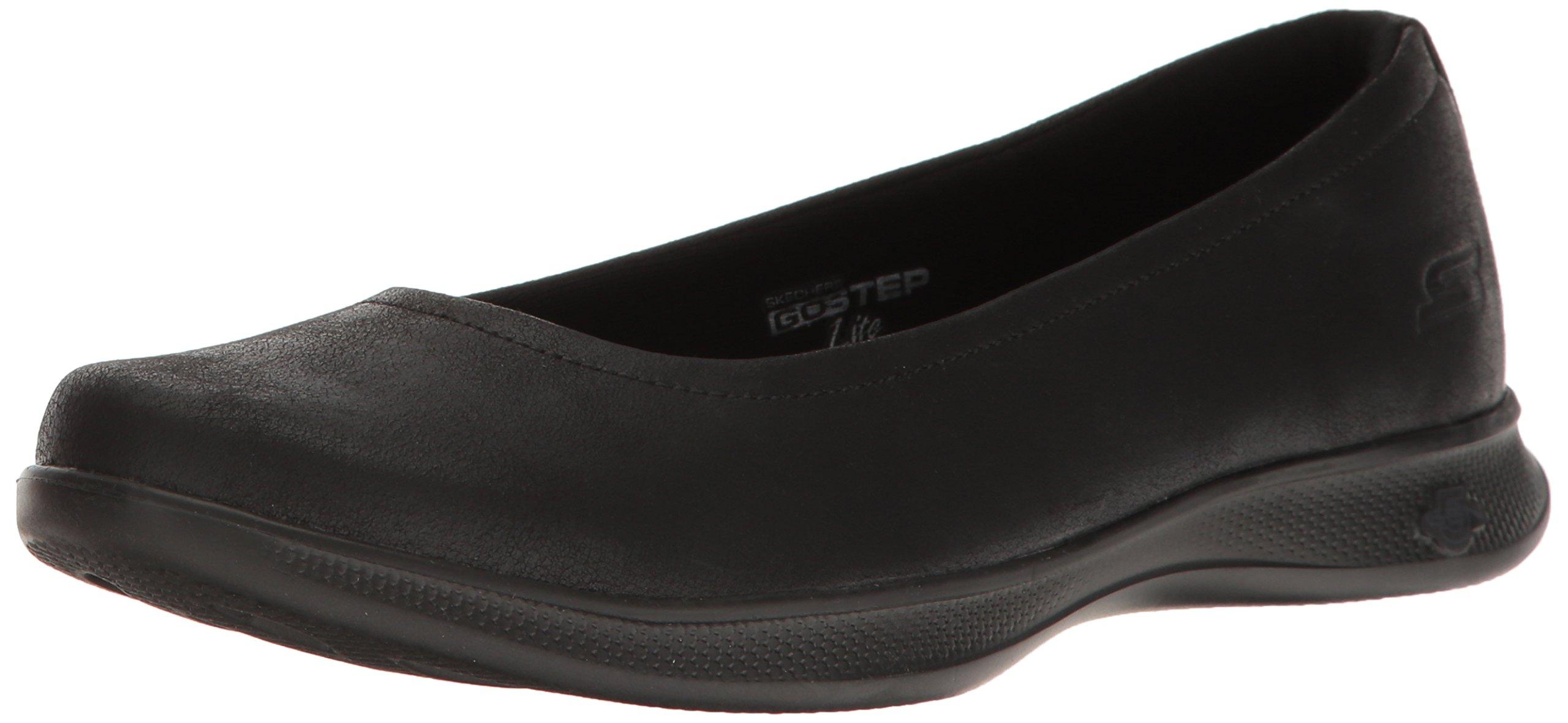 Skechers Performance Women's Go Step Lite-Mystic Walking Shoe,Black,9.5 M US
