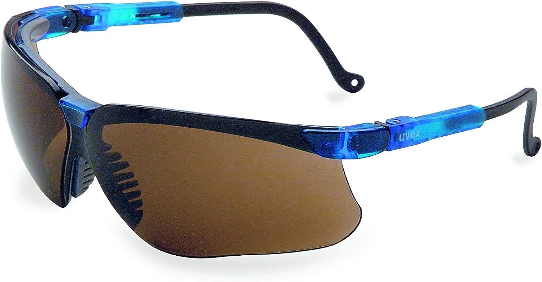 Honeywell Home Uvex Genesis Safety Glasses with Uvextreme Anti-Fog Coating, Vapor Blue Frame (S3241)