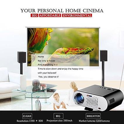 LCD 3200 lúmenes Proyección 200 Inch Pantalla Full HD LED ...
