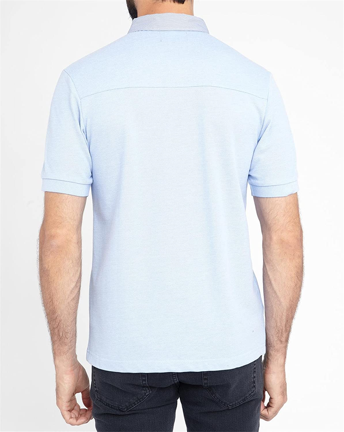 263cc7959 Fred Perry Woven trim Polo T-shirt Slim Fit M7213 Sky Blue Small:  Amazon.co.uk: Clothing