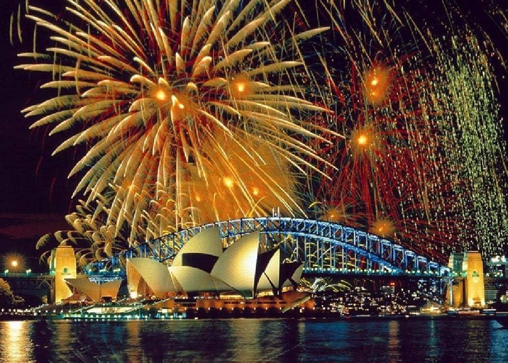 Fuegos Artificiales En La Ópera De Sydney Y El Harbour Bridge 1000 Piezas De Rompecabezas para Adultos Juego Educativo De Ocio para Niños