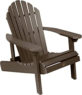 product image for Highwood AD-CHL1-ACE Hamilton Folding and Reclining Adirondack Chair, Adult Size, Weathered Acorn