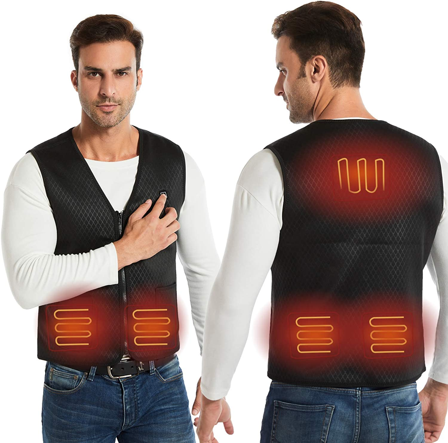 Amazon.com: AIMINTSEN Heated Vest Heated Jackets for Men Women USB Charging  Electric: Clothing