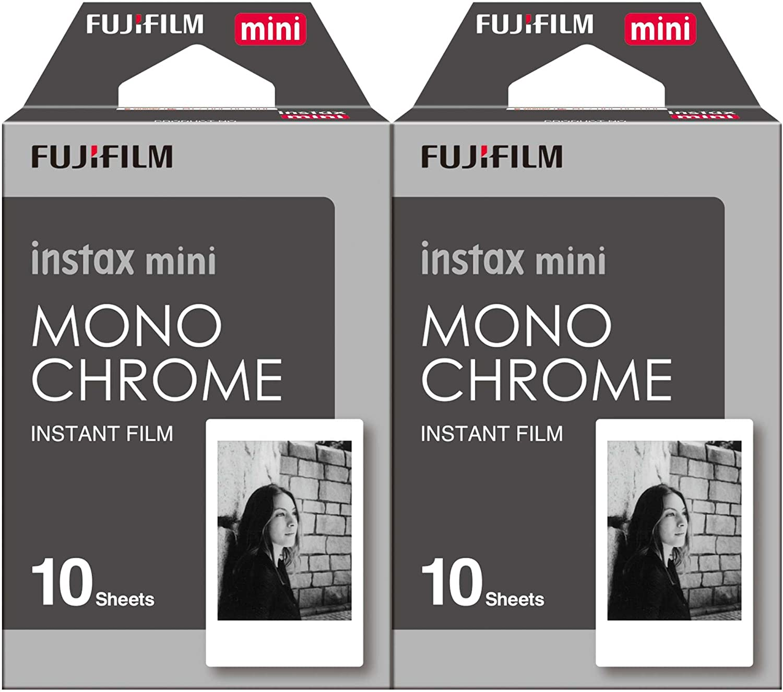 Fujifilm Instax Mini Film Monochrome 2-Pack (20 B&W Exposures)