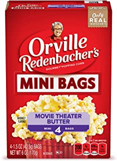 product image for Orville Redenbacher's Movie Theater Butter Popcorn, 1.5 Ounce Mini Bag, 4-Count