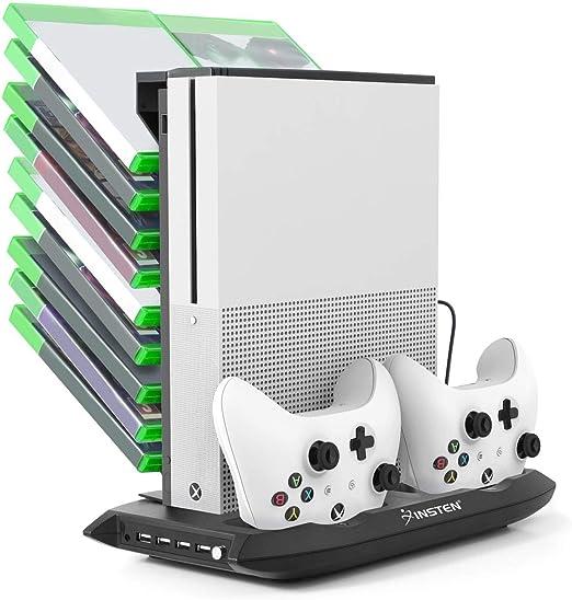 Para Xbox One S refrigeración soporte vertical, Insten doble ...