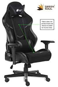 Green Soul Monster Series Gaming/Ergonomic Chair (Full Black, Large)