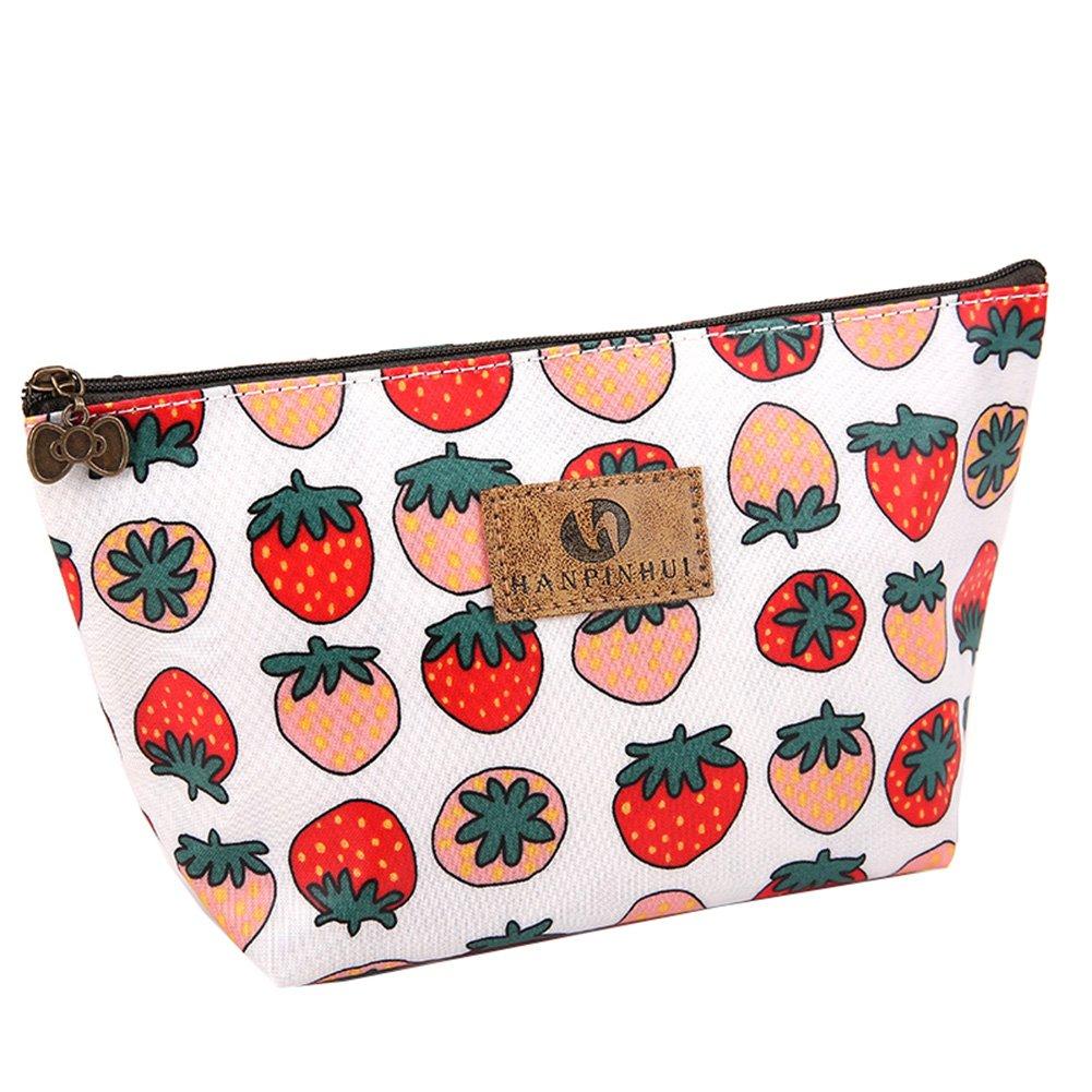 BIGBOBA Mini Fruits Print Trousse à Crayons de Papier à Lettres Sacs, Porte-Monnaie zippé Sac de Rangement pour Le Voyage, 22x 8x 13cm, Citron, 22×8×13cm