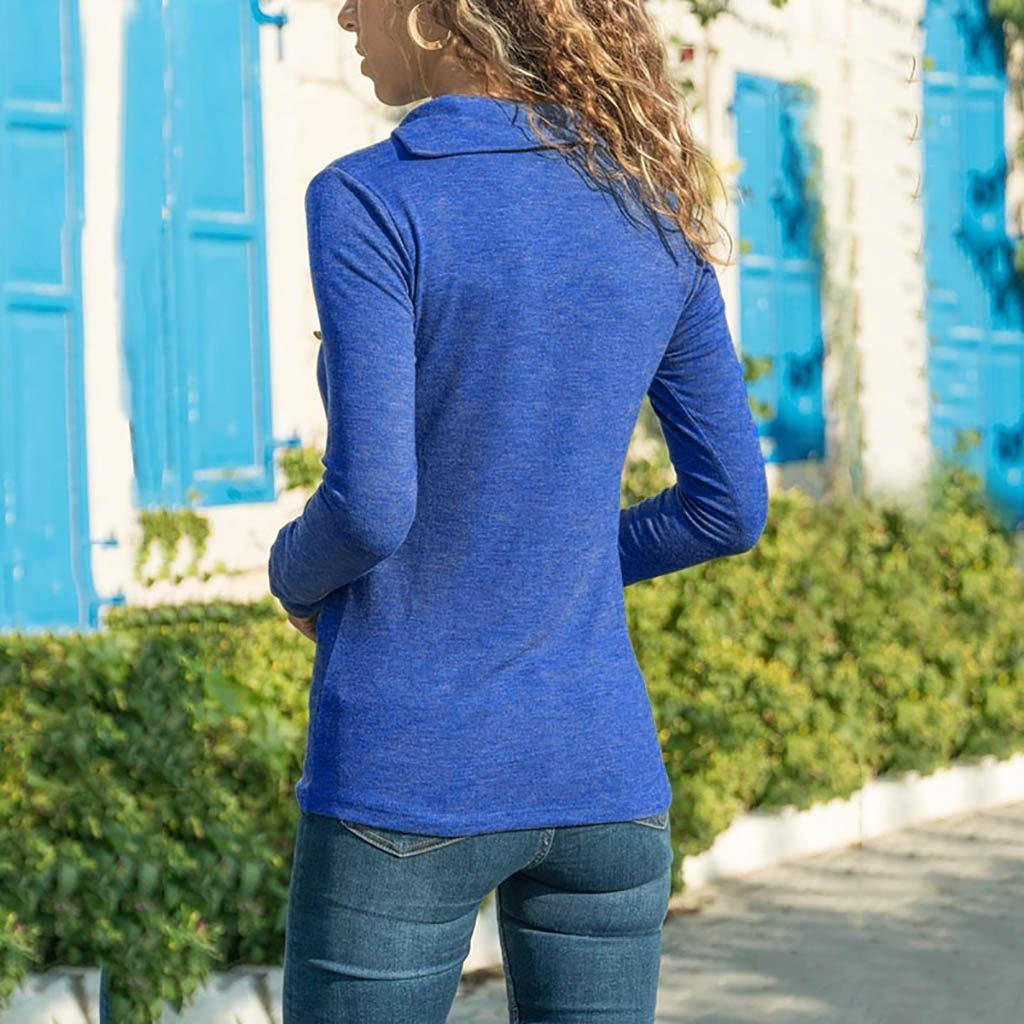 Langarmshirts/Damen V-Ausschnitt PANPANY Damen Sweatshirt Langarmshirt V-Ausschnitt Pullover Casual Sport Shirt Oberteile mit Tie Back