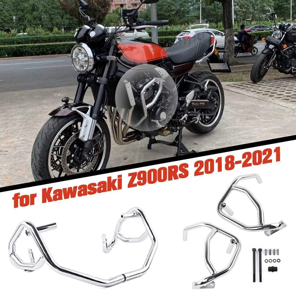Lorababer Motorrad Chrom Stahl Motorschutz Sturzbügel Schutzbügel Für Kawasaki Z900rs Z 900rs Z 900 Rs Cafa Zubehör 2018 2019 2020 2021 Chrom Auto