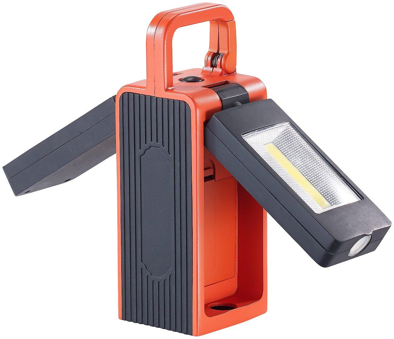Neodym-Magnet 8W 325lm,IP44 COB-LEDs Werkstattlampen 3 Modi Lunartec Arbeitslampen: Arbeitsleuchte AL-525