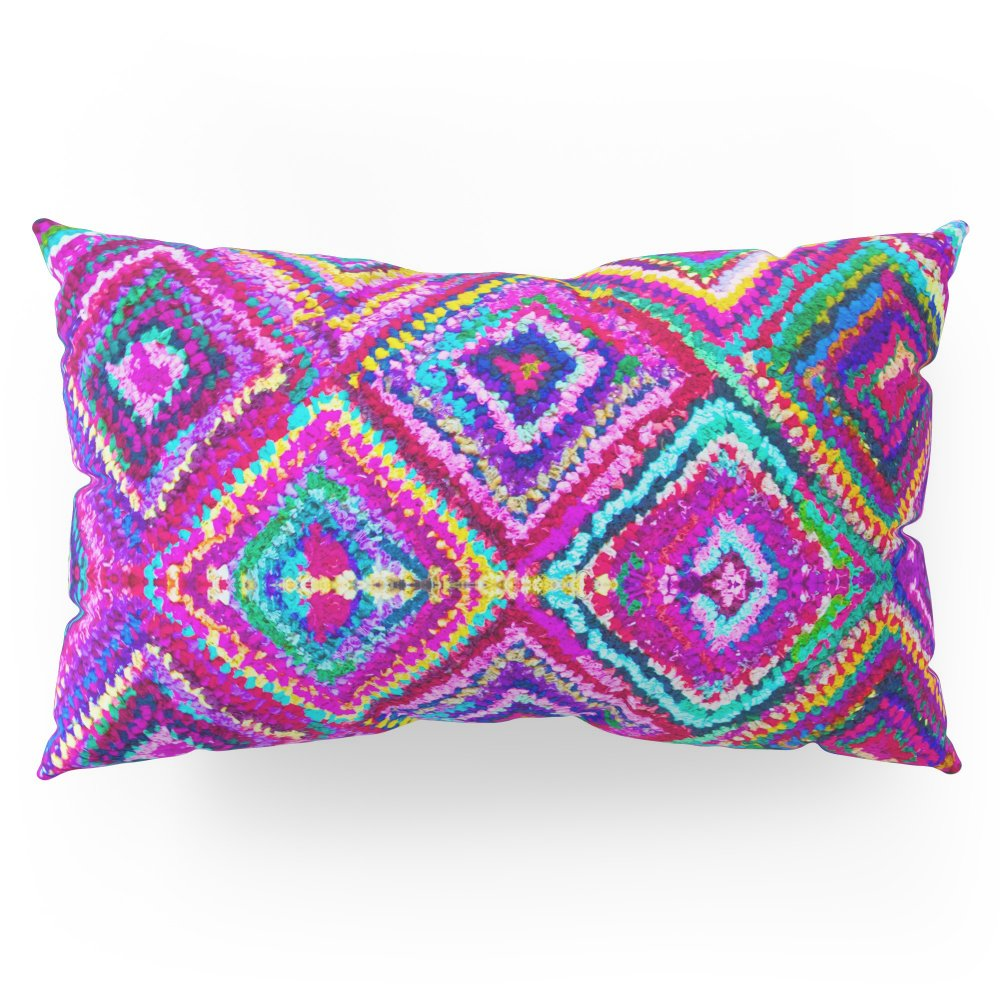 Society6 A Trip To India In Cerulean Blue And Violet Pillow Sham King (20'' x 36'') Set of 2