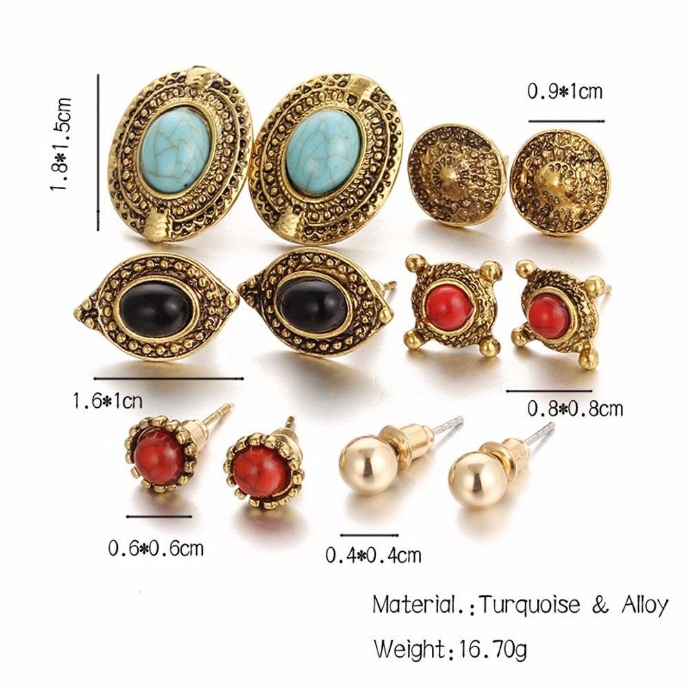 4c9f54f4c Shining Diva Fashion Jewellery Antique Stylish Fancy Party Wear Studs  Traditional Earrings For Women Girls Combo(Golden)(cmb278): Amazon.in:  Jewellery
