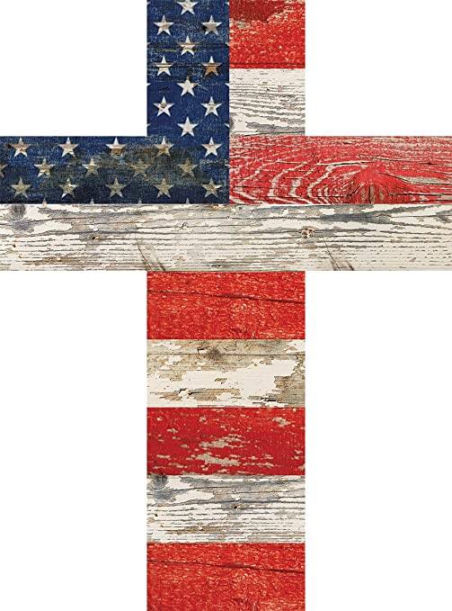 American Flag Patriotic Red White and Blue Crackled Design 14 x 10 Wood Wall Art Cross  sc 1 st  Amazon.com & Amazon.com : American Flag Patriotic Red White and Blue Crackled ...