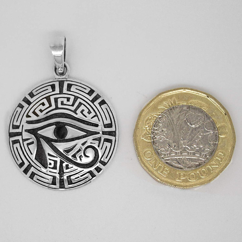 Talismanic Silver of London Pendentif Egypte Antique Oeil dHorus Ujat Wadjet Ujat en Argent Massif Sterling 925