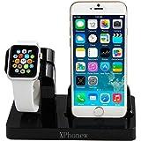 Dock per caricabatterie per iPhone, XPhonew 2 in 1 Apple Watch, supporto per stazione di ricarica per iPhone per iWatch/iPhone 7/7 Plus/6S/6S Plus 6/6 Plus/5S/5/SE