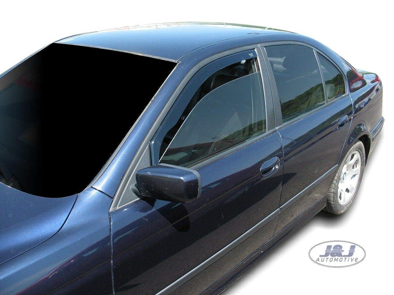 J/&J AUTOMOTIVE Deflecteurs dair D/éflecteurs de Vent Compatible avec BMW 5 E39 4//5p 1995-2003 pcs
