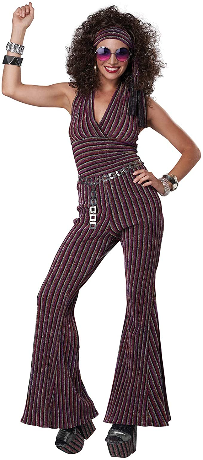 70s Costumes: Disco Costumes, Hippie Outfits California Costumes 70s Halter Pant Set Adult Costume $59.99 AT vintagedancer.com