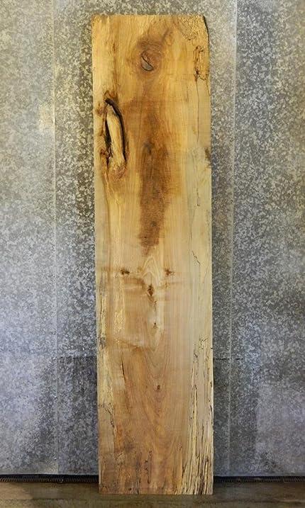 Very Rustic Straight Edge Spalted Maple Bar Top/Vanity Shelf Slab 40706 T: 2