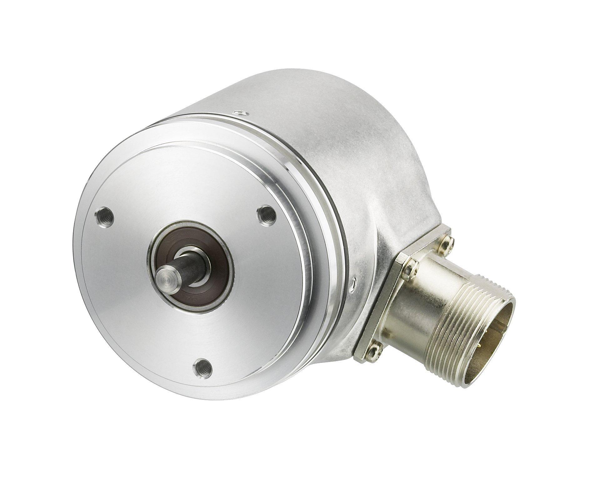 Hengstler 0522333 RI58-O/5000AS.41RD Incremental Encoder, 6 mm Solid Shaft, 5000 Pulses, Grey