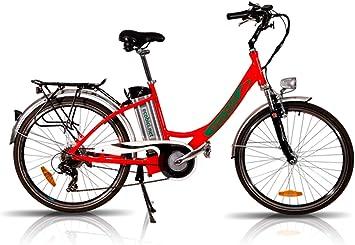 Bicicleta Eléctrica Ciudad OMEYA con Batería de Litio Motor 250W Autonomía 80Kms: Amazon.es: Deportes y aire libre