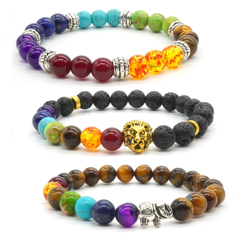 8f2a07452684 brazalete budista terapia energé tica equilibrio 7 chacras pulsera ...