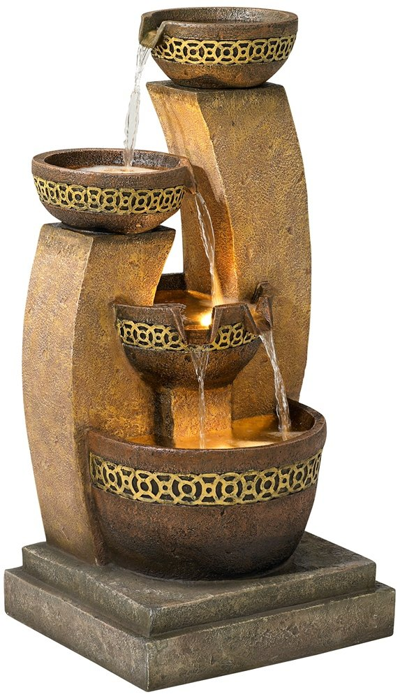 Four Bowl 41 1/2'' High Cascading Fountain by John Timberland (Image #1)