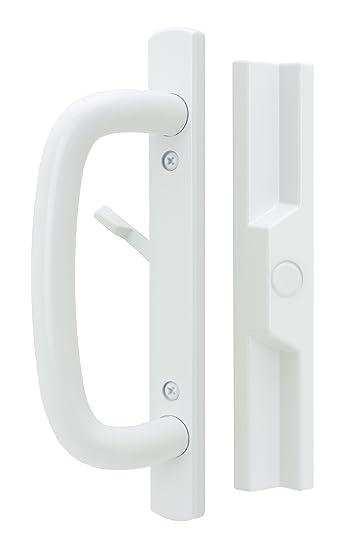Veranda Sliding Glass Door Handle Set, White, Non Keyed, 3 15