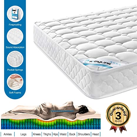 HomyLink 5FT King Mattress - Orthopaedic 3D Breathable Mattress